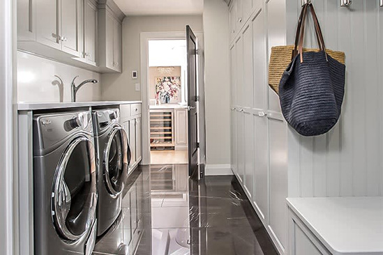 Transitional Laundry Room & Mudroom